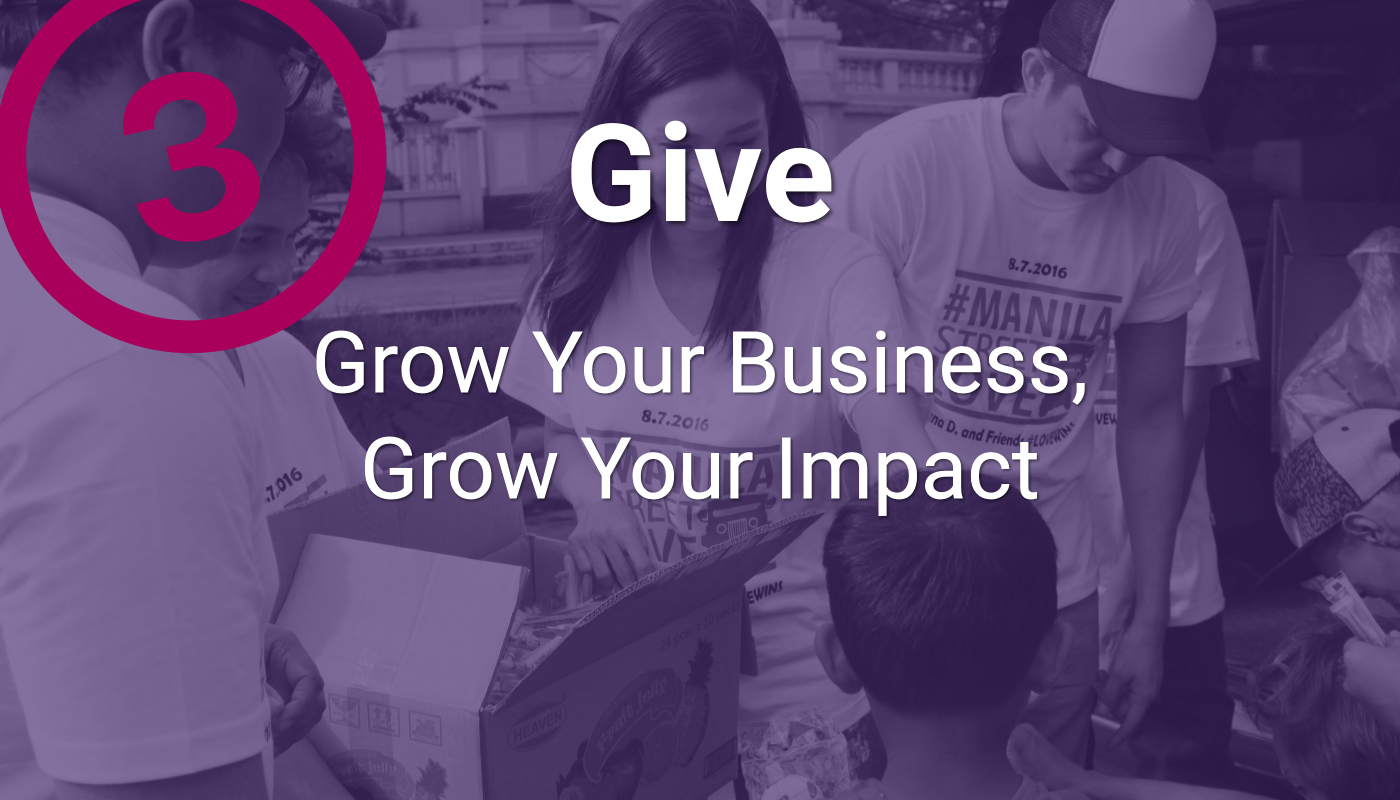 Give to grow your business | socially conscious business